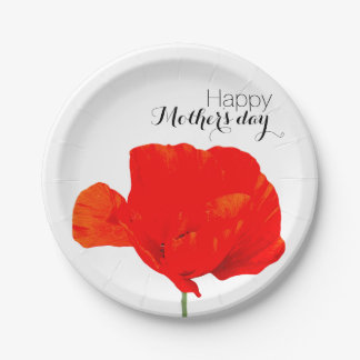 ケシのコレクション06の母の日の紙皿 ペーパープレート