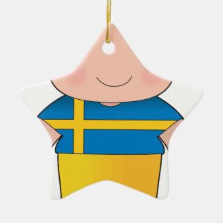 ケシのスウェーデンの男の子 セラミックオーナメント