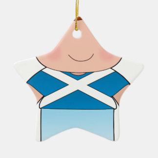 ケシのスコットランドの男の子 セラミックオーナメント
