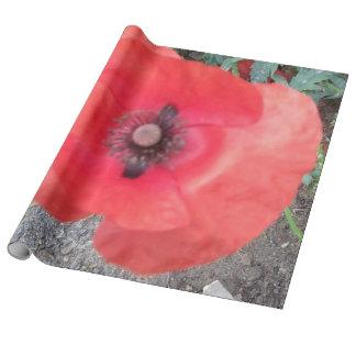 ケシのデザインのリネン包装紙 ラッピングペーパー