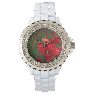 ケシのラインストーンの腕時計 腕時計