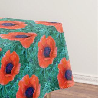 ケシの東洋の赤いオレンジ --- エコーの印刷物 テーブルクロス