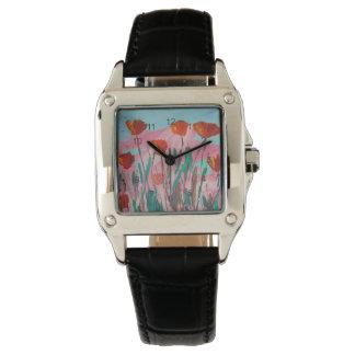 ケシの歓楽 腕時計