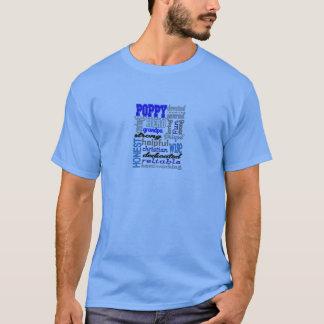 ケシの祖父の父の日のパパのパパイヤ Tシャツ