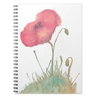 ケシの花のノート ノートブック