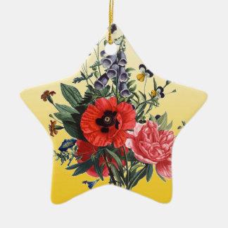 ケシの花束 セラミックオーナメント