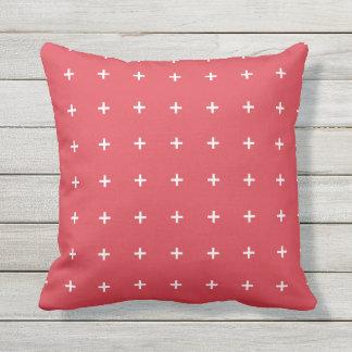 ケシの赤い屋外の枕-十字パターン アウトドアクッション