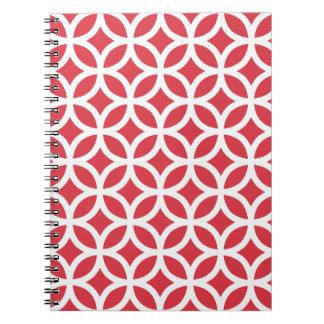 ケシの赤い幾何学的 ノートブック