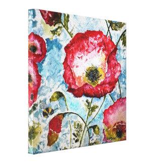 ケシの《昆虫》マルハナバチの水彩画のキャンバスのプリント10x10 キャンバスプリント