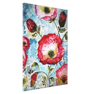 ケシの《昆虫》マルハナバチの水彩画のキャンバスのプリント18x24 キャンバスプリント