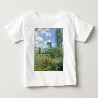 ケシ分野の車線-クロード・モネ ベビーTシャツ