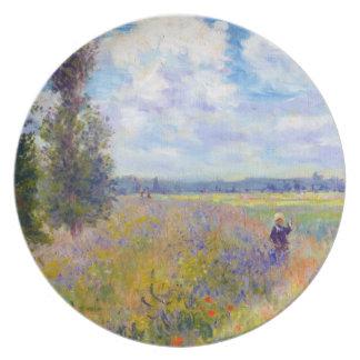 ケシ分野、アルジャントゥーユ、1875年のクロード・モネ プレート