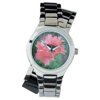 """ケシ""""ピンクのひだ"""" - 腕時計"""