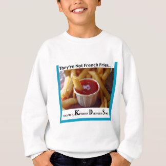 ケチャップのフライドポテトの自由はTシャツを揚げます スウェットシャツ