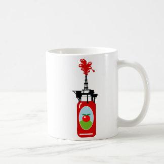 ケチャップの石油掘削装置 コーヒーマグカップ