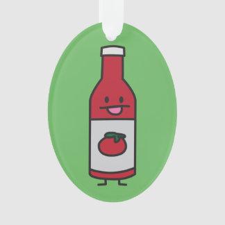 ケチャップボトルのトマトソースのテーブルの香辛料の空想 オーナメント