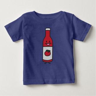 ケチャップボトルのトマトソースのテーブルの香辛料の空想 ベビーTシャツ
