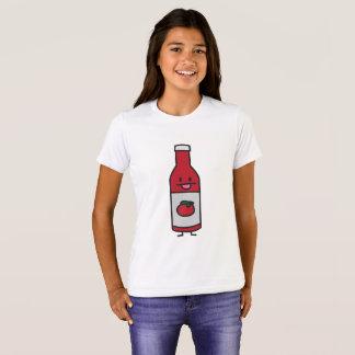 ケチャップボトルのトマトソースのテーブルの香辛料の空想 Tシャツ