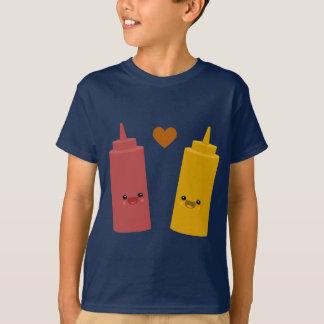 ケチャップ及びマスタードの友人 Tシャツ