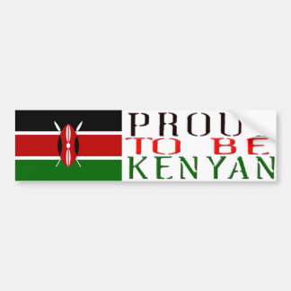 ケニアのバンパーステッカーがあること誇りを持った バンパーステッカー