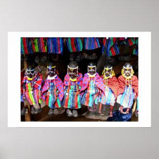 ケニアの市場の人形 ポスター