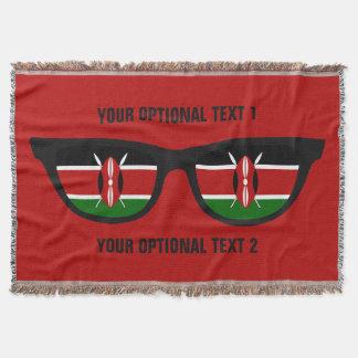 ケニア人の陰のカスタムな投球毛布 スローブランケット