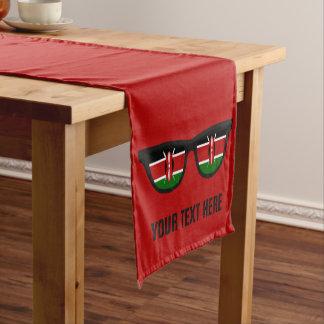 ケニア人はカスタムなテーブルのランナーを影で覆います ショートテーブルランナー