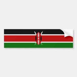 ケニヤかケニアの旗 バンパーステッカー