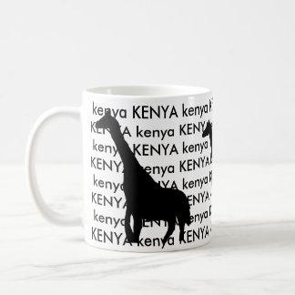 ケニヤのキリン コーヒーマグカップ