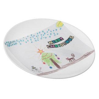 ケニヤのクリスマスのプレート 皿