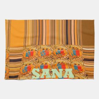 ケニヤの伝統的な種族Hakuna Matataありがとう タオル
