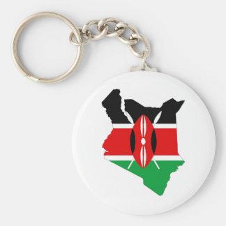 ケニヤの国旗の地図 キーホルダー