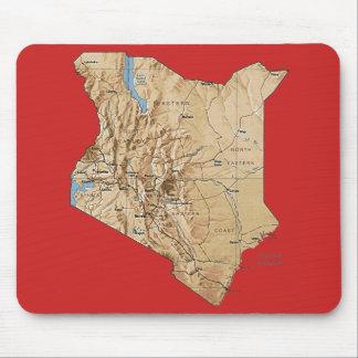 ケニヤの地図のマウスパッド マウスパッド