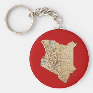 ケニヤの地図Keychain キーホルダー
