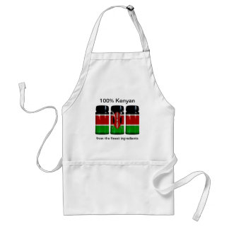 ケニヤの旗のスパイスはエプロンを震動させます スタンダードエプロン