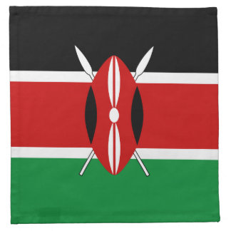 ケニヤの旗のナプキン ナプキンクロス