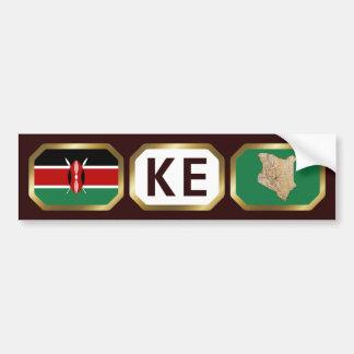 ケニヤの旗の地図コードバンパーステッカー バンパーステッカー