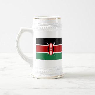 ケニヤの旗の~の地図のマグ ビールジョッキ