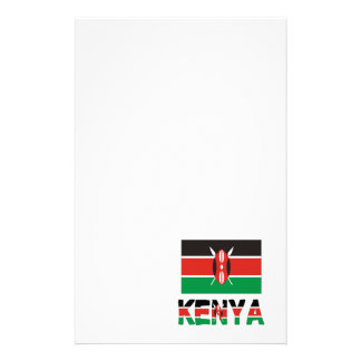 ケニヤの旗及び単語 便箋