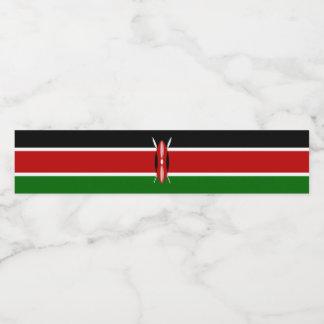 ケニヤの旗 ウォーターボトルラベル
