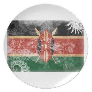ケニヤの旗 パーティー皿