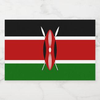 ケニヤの旗 フードラベル