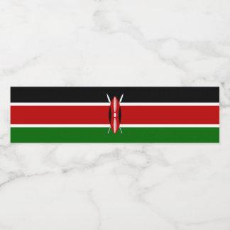 ケニヤの旗 ペットボトルラベル