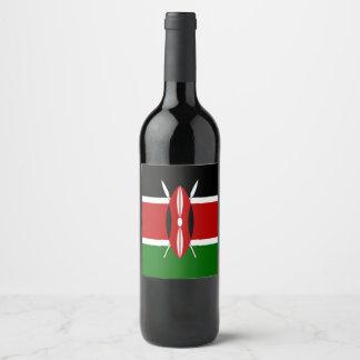 ケニヤの旗 ワインラベル