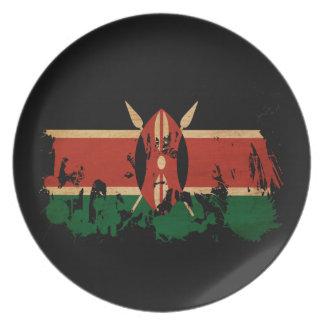 ケニヤの旗 皿