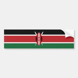 ケニヤの明白な旗 バンパーステッカー
