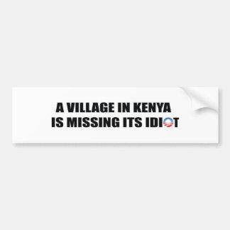ケニヤの村は馬鹿を恋しく思っています バンパーステッカー