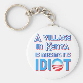 ケニヤの村は馬鹿オバマを恋しく思っています キーホルダー