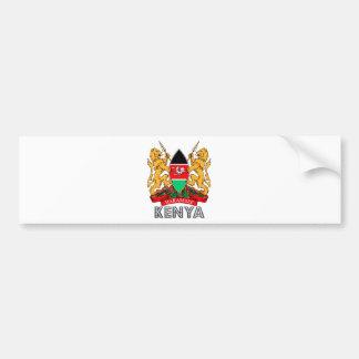 ケニヤの紋章付き外衣 バンパーステッカー