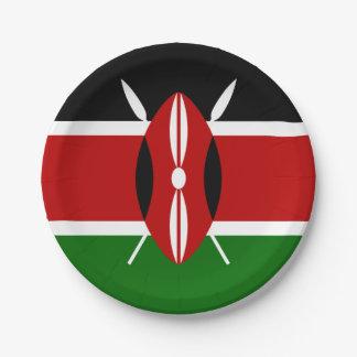 ケニヤの紙皿の旗 ペーパープレート